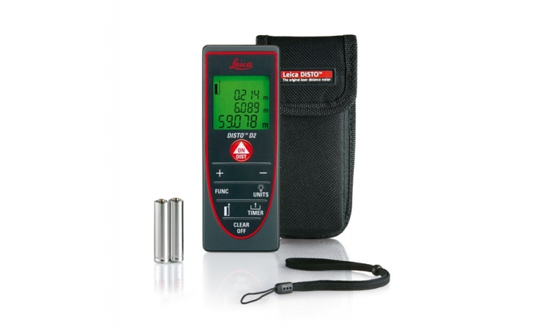 Leica DISTO™ D2 POCKETSIZE WITH 100 M RANGE AND BLUETOOTH® SMART
