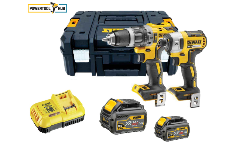Dewalt Brushless Twin Pack (2 x 54V 6 Amp Flexvolt Batteries) (DCK266T2)