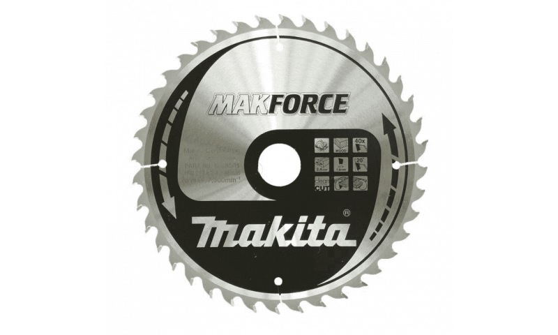 Makita MAKFORCE TCT Circular Saw Blade 210 x 30mm x 40T B-08501