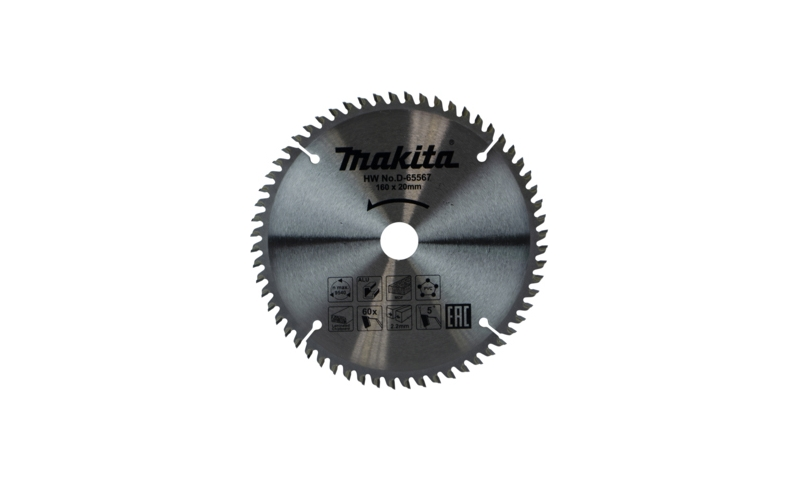Makita TCT Multi Purpose Saw Blade 160mm x 20mm 60T (D-65567)