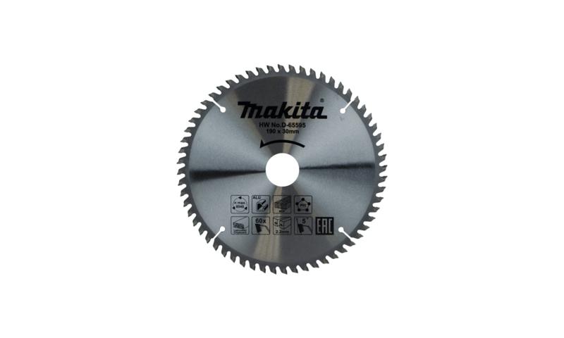 Makita D-65595 TCT Multi Purpose Saw Blade 190mm x 30mm 60T