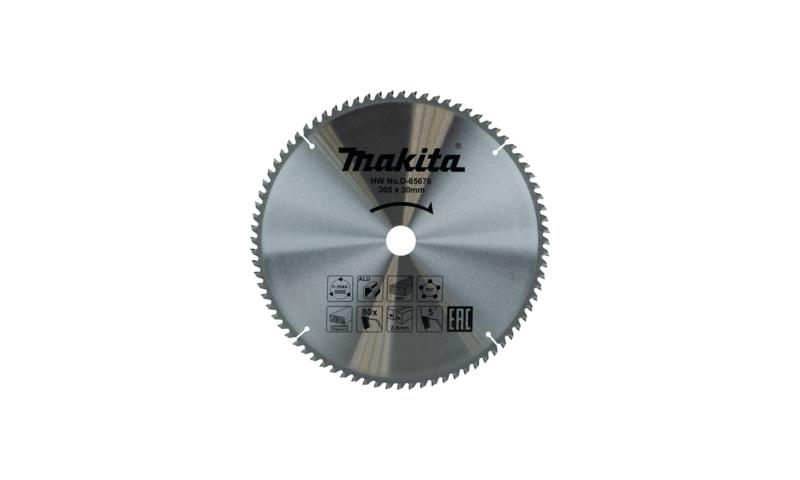Makita 305mm x 80t x 30mm Multi Purpose Tct Saw Blade (D-65676)