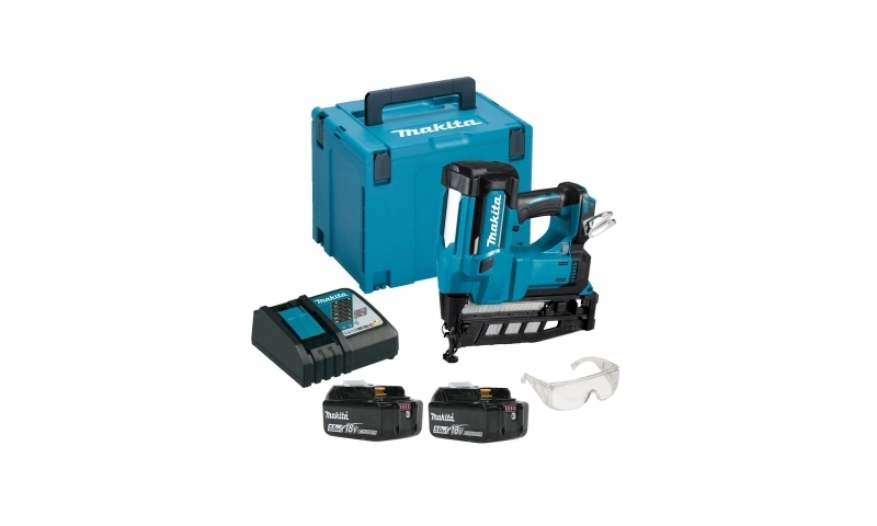 Makita DBN600RTJ 18v Cordless 2nd Second Fix Framing Finishing Nailer 16g - 5ah Batts