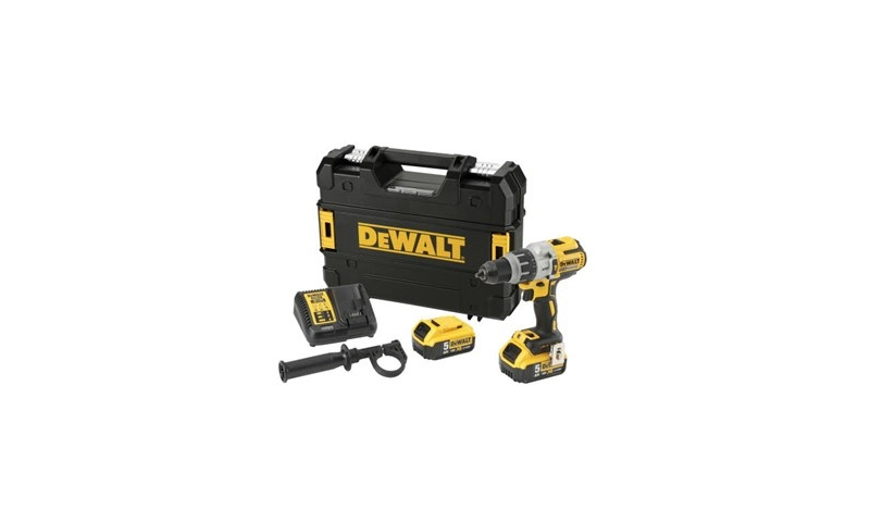 DeWalt DCD996P2 18V XR 3-Speed Brushless Hammer Combi Drill with 2 x 5.0Ah Batteries