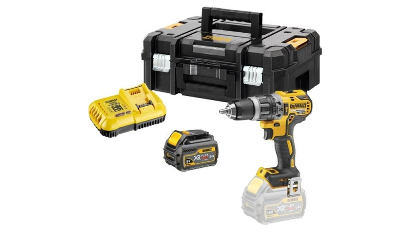 DeWalt DCD796T1 18v XR Brushless Combi Drill Kit (1x 6.0Ah Battery)