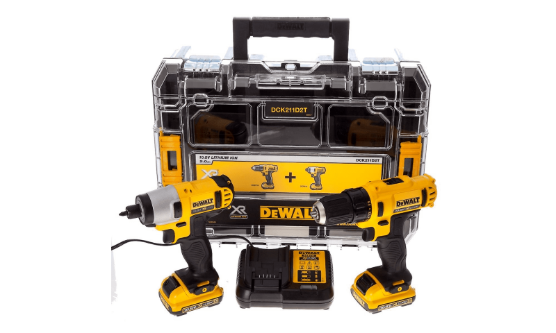 DeWalt DCK211D2T 10.8V XR 2 Piece Drill and Impact Driver Kit