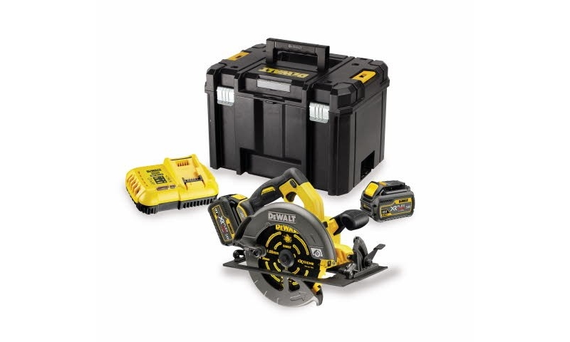 DeWalt DCS575T2 54V XR FLEXVOLT Circular Saw Kit with 2 x 6.0Ah Batteries and Case