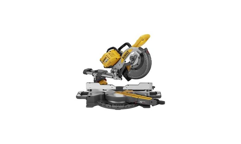 DeWalt DCS727N 54V 250mm XR Flexvolt Double Bevel Slide Mitre Saw Body Only