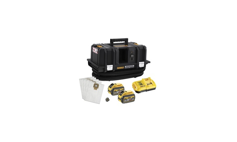 DeWalt 54V 2x6.0Ah XR FlexVolt M-Class Dust Extractor Kit (DCV586MT2-GB)