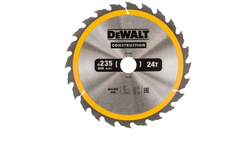 Dewalt 235mmx30mm x 24 teeth Tct Saw Blade (Dt1954-qz)