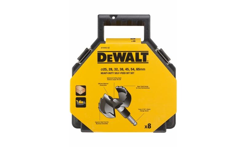 DeWALT DT4593-QZ Self Feed Wood Drill Bit Set 25-65mm (8PC)