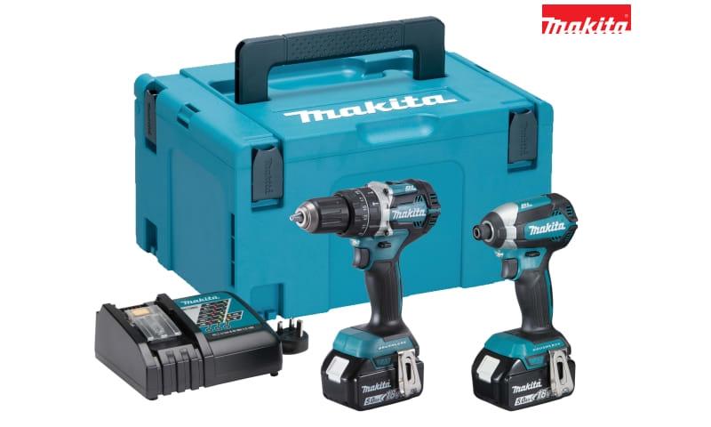 Makita DLX2180TJ DLX2180TJ Brushless Twin Pack 18V 2 x 5.0Ah Li-ion