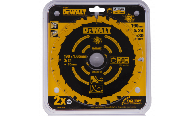 DeWalt DT10304 190mm 24T Extreme Framing Circular Saw Blade