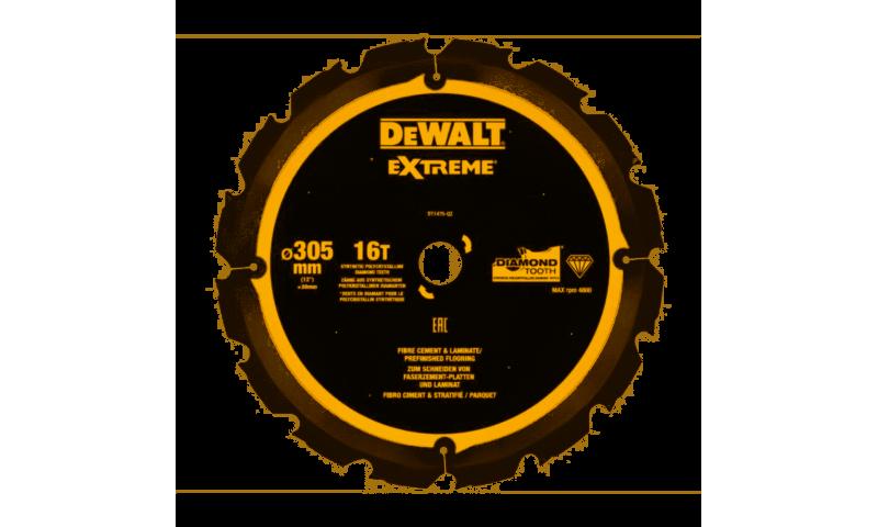 DEWALT DT1475 305x30mm 16T PCD Fibre Cement Blade