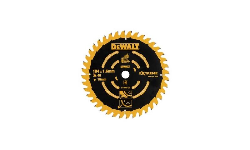 Dewalt 184mm x 16m x 40T Trim Mitre Saw Blade (Dt1668-qz)