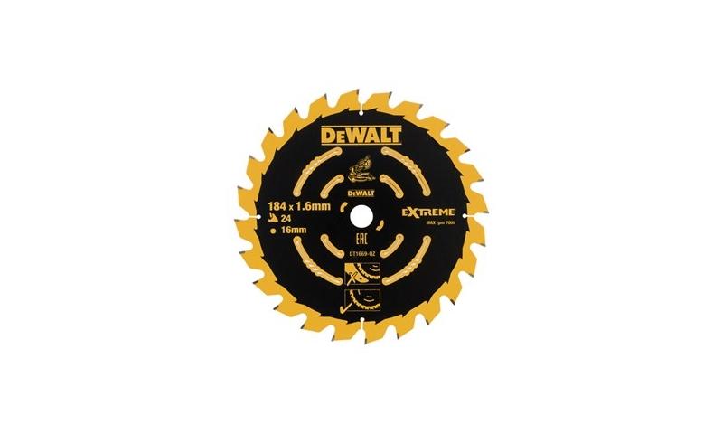 Dewalt 184mm x 16mm x 24T Trim Mitre Saw Blade (DT1669-QZ )