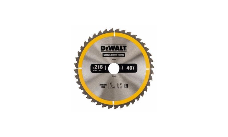 Dewalt Saw Blade 216mm X 30mm X 40 Teeth (DT1953-qz)