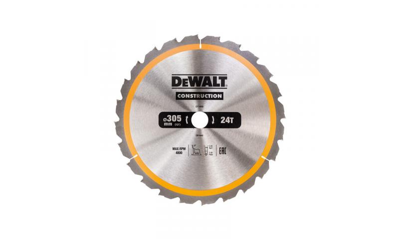 DeWalt DT1958QZ Construction Circular Saw Blade 305 x 30 24T