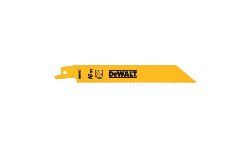 DEWALT DT2384-QZ 5 PACK 152MM BI-METAL RECIPROCATING SAW BLADES - FOR FAST CUTS IN METAL