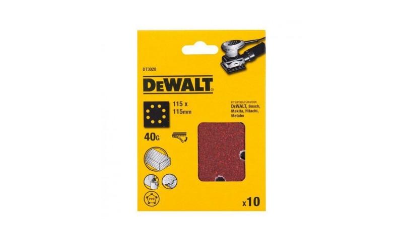 DeWalt DT3020-QZ 1/4 Sheet Sanding Sheets Pre-Punched 40g x 10
