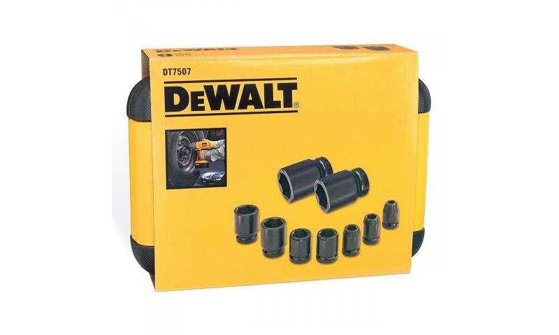 Dewalt DT7507QZ Metric Impact Socket Set 10 - 27mm (9 Piece)