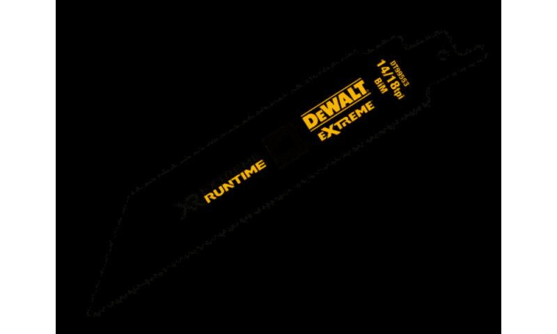 DEWALT DT99553-QZ XR XTREME RUNTIME 152MM 14/18 TPI BIM RECIPROCATING SAW BLADES 5 PCS