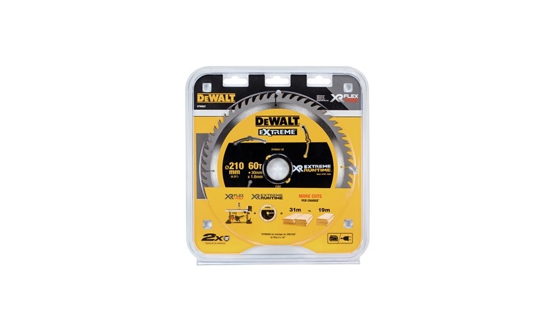 Dewalt DT99567-QZ XR Flexvolt Extreme Blade 210MM X 30MM X 60T Table Saw Blade