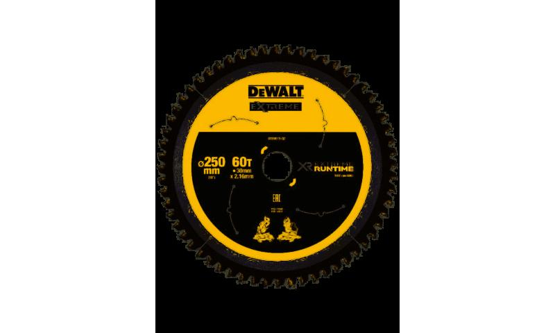 DeWalt DT99573 XR Flexvolt Saw Blade 250mm x 30mm 60T