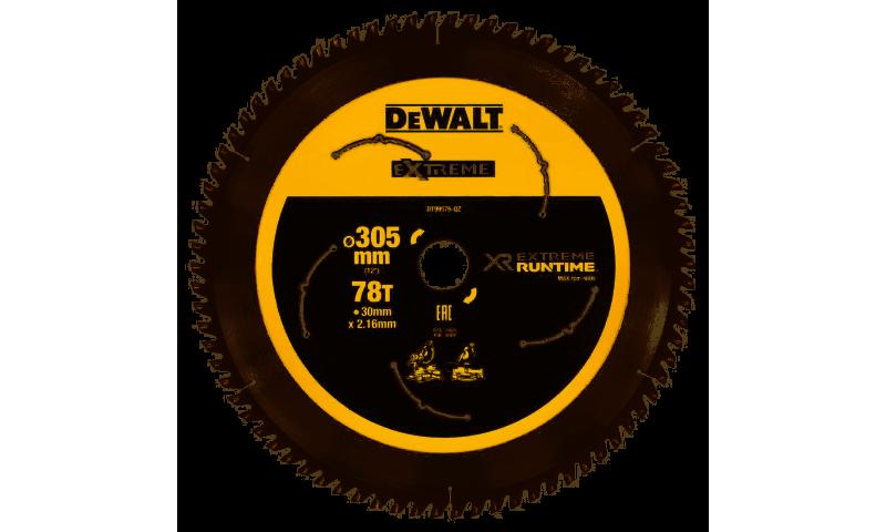 DeWalt DT99576 305mm x 30mm 78T FlexVolt Xtreme Runtime Saw Blade
