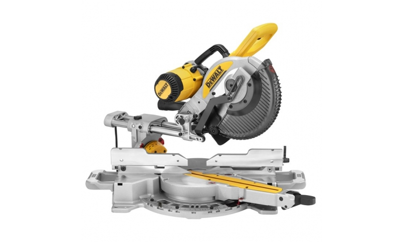 DeWalt DWS727-GB 220v 250mm Double Bevel Slide Mitre Saw with XPS