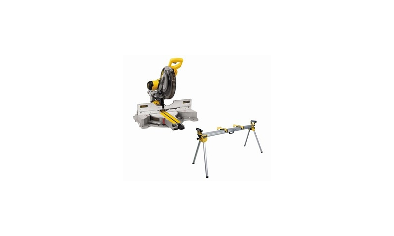 DeWalt DWS780 110V 305mm Compound Slide Mitre Saw with XPS with DE7023 Legstand