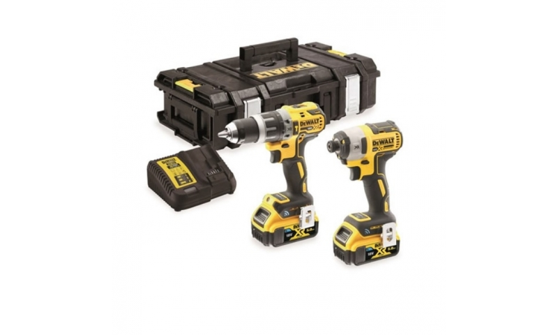 DEWALT DCK2500P2B XR Brushless Tool Connect Twin Pack 18V 2 x 5.0Ah Li-ion