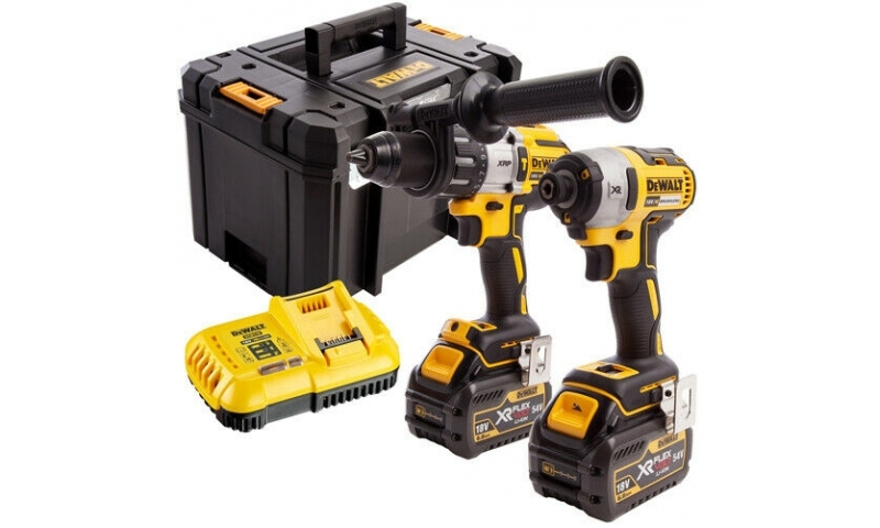 DeWalt DCK276T2T 18v Combi Drill and Impact Driver XR Brushless Kit 2 x 6.0Ah in T-STAK