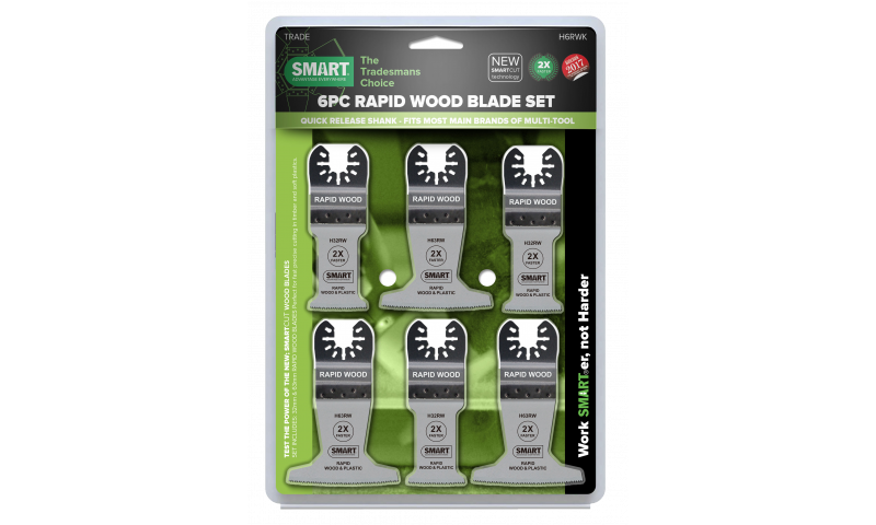 SMART RAPID WOOD BLADE SET X6 PCS (H6RWK)