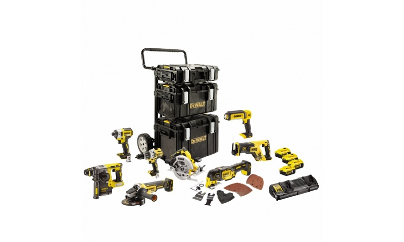 Dewalt 8 Piece Brushless kit 4 x 5.0AH Batteries (DCK853P4-GB)