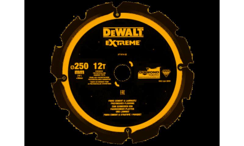 DEWALT DT1474 250x30mm 12T PCD Fibre Cement Blade