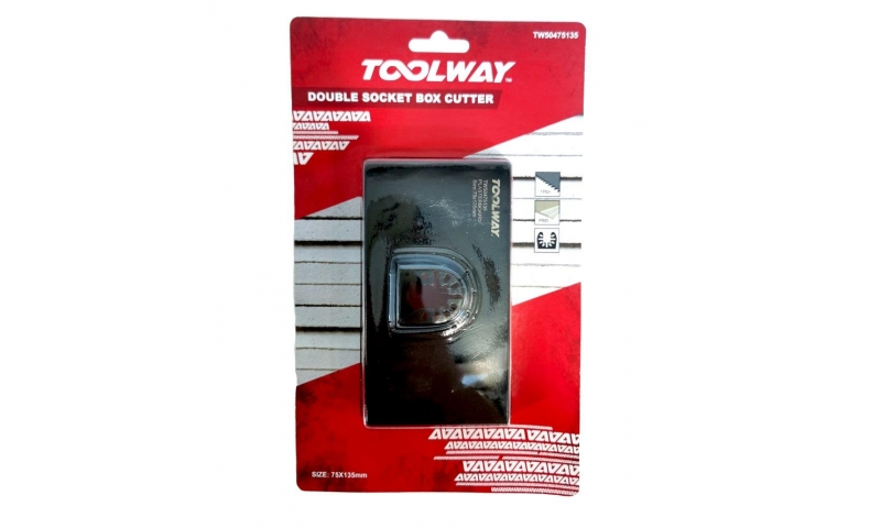 ToolWay Multi-Tool Twin Gang Box Cutter - 75mmx135mm